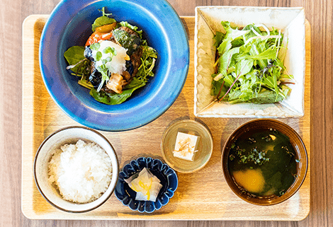 季節野菜おろしハンバーグ定食
